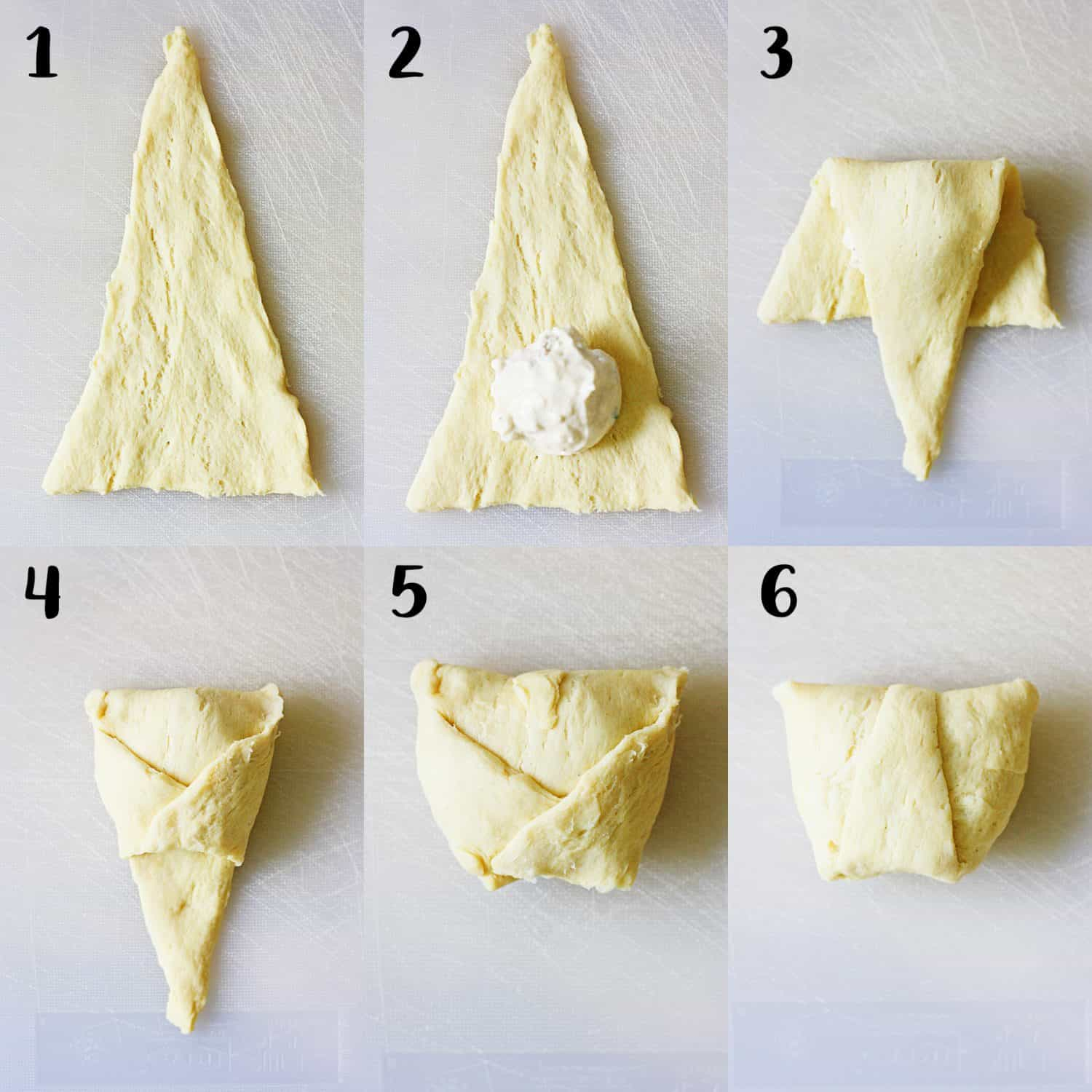 How to Fold Creamy Chicken Crescent Rolls | halfscratched.com