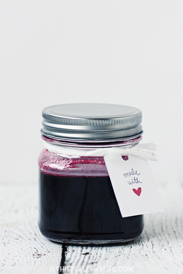 Simple Berry Syrup -- This simple berry syrup requires only three ingredients and works with most berries. My favorites are strawberries, raspberries and blackberries. Yum! | halfscratched.com