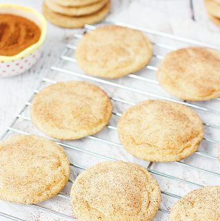Best Ever Snickerdoodle Recipe -- I'm not lying when I say these this is the best ever snickerdoodle recipe. Soft and chewy on the inside, slightly crisp on the edges and packed with cinnamon sugar flavor. | halfscratched.com