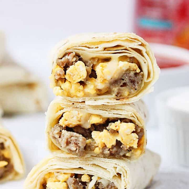 Make-Ahead Freezer Breakfast Burritos