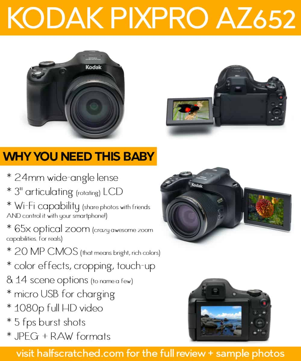 KODAK PIXPRO AZ652 -- Why You Need This Digital Camera | halfscratched.com