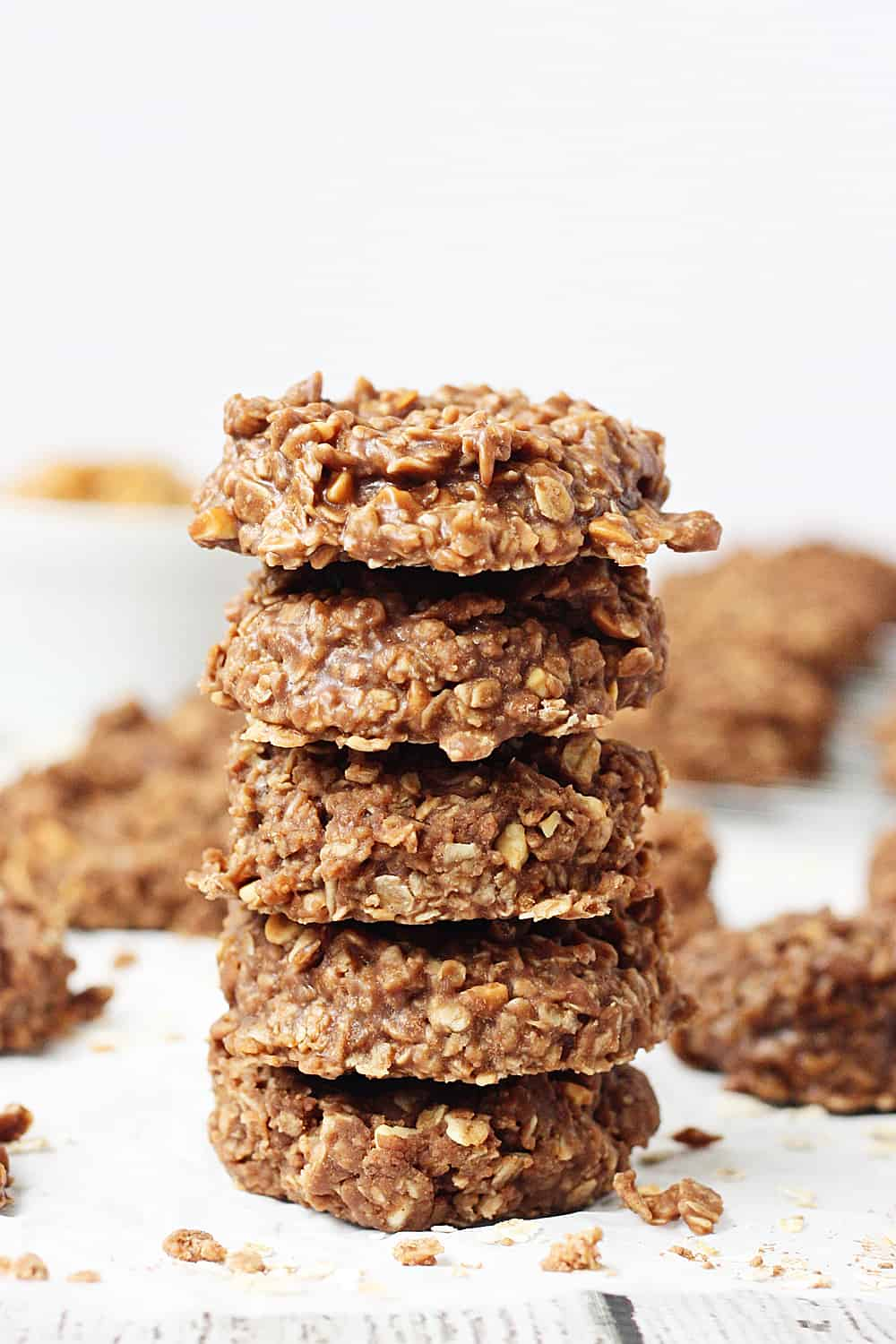 Crunchy Peanut Butter No-Bake Cookies