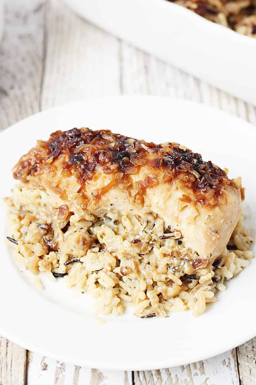 crockpot chicken and stuffing skinnyish dish