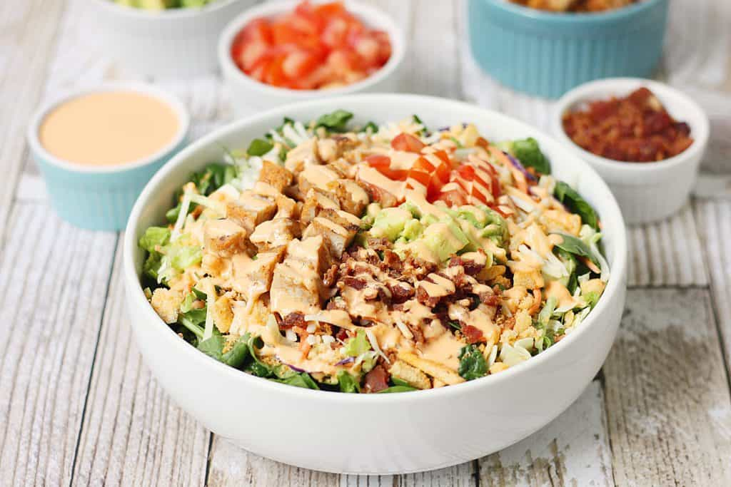 5-Minute Southwest BLT Chicken Salad