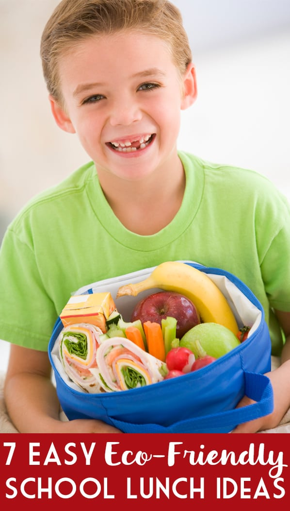 7 Easy Eco-Friendly Kids School Lunch Ideas -- Seven eco-friendly school lunch ideas that are not only easy to implement but also a great way for you and your kids to be more environmentally friendly!