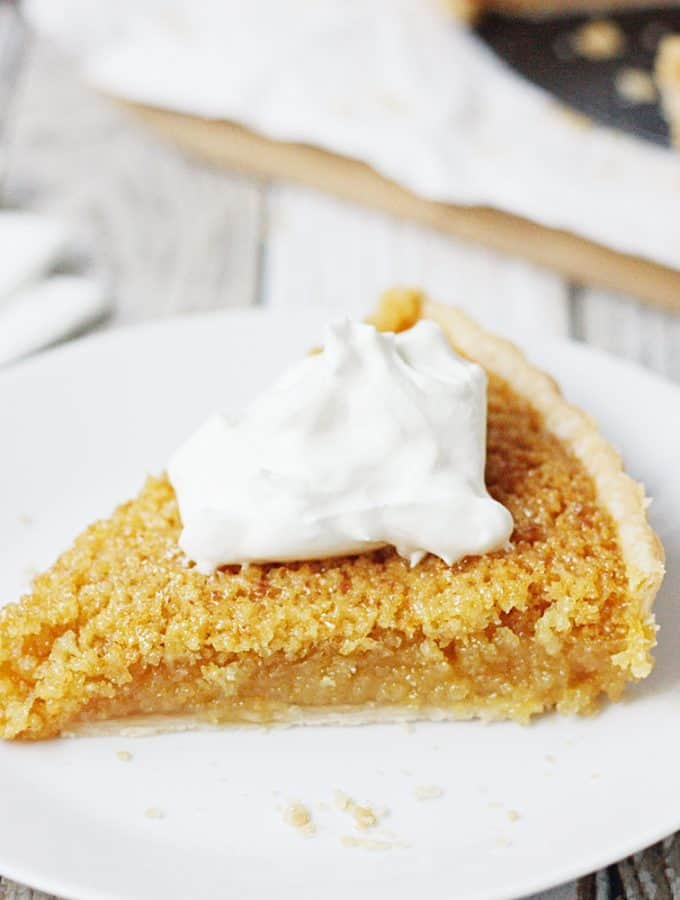 EASY Treacle Tart Recipe for Harry Potter Foodies -- What is treacle tart? Harry Potter fans know it's one of Harry's favorite desserts! This treacle tart is an easy take on this traditional British dessert. #treacletart #harrypotter #harrypotterfood #easyrecipe #tart #pie #halfscratched #harrypotterrecipe #treacle #lylesgoldensyrup #dessert #baking #recipe #dessertrecipe #tartrecipe