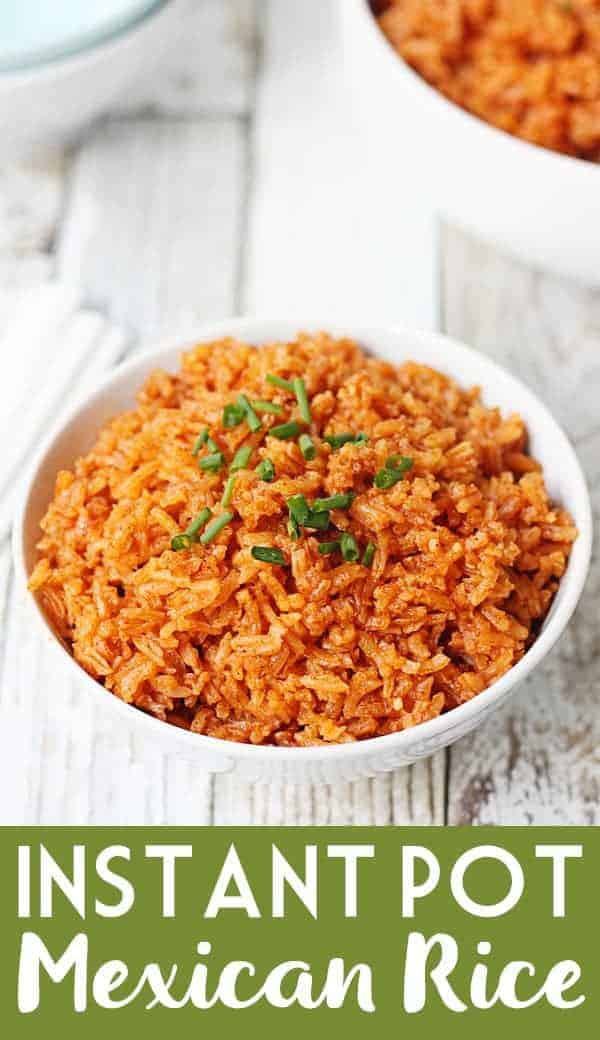Easy Instant Pot Mexican Rice -- Instant Pot Mexican rice is easier than you think! This recipe starts with simple ingredients and ends with moist, flavorful rice impossible to resist! #instantpot #pressurecooker #mexican #mexicanrecipe #mexicanfood #mexicanrice #easyrecipe #halfscratched #cooking #rice