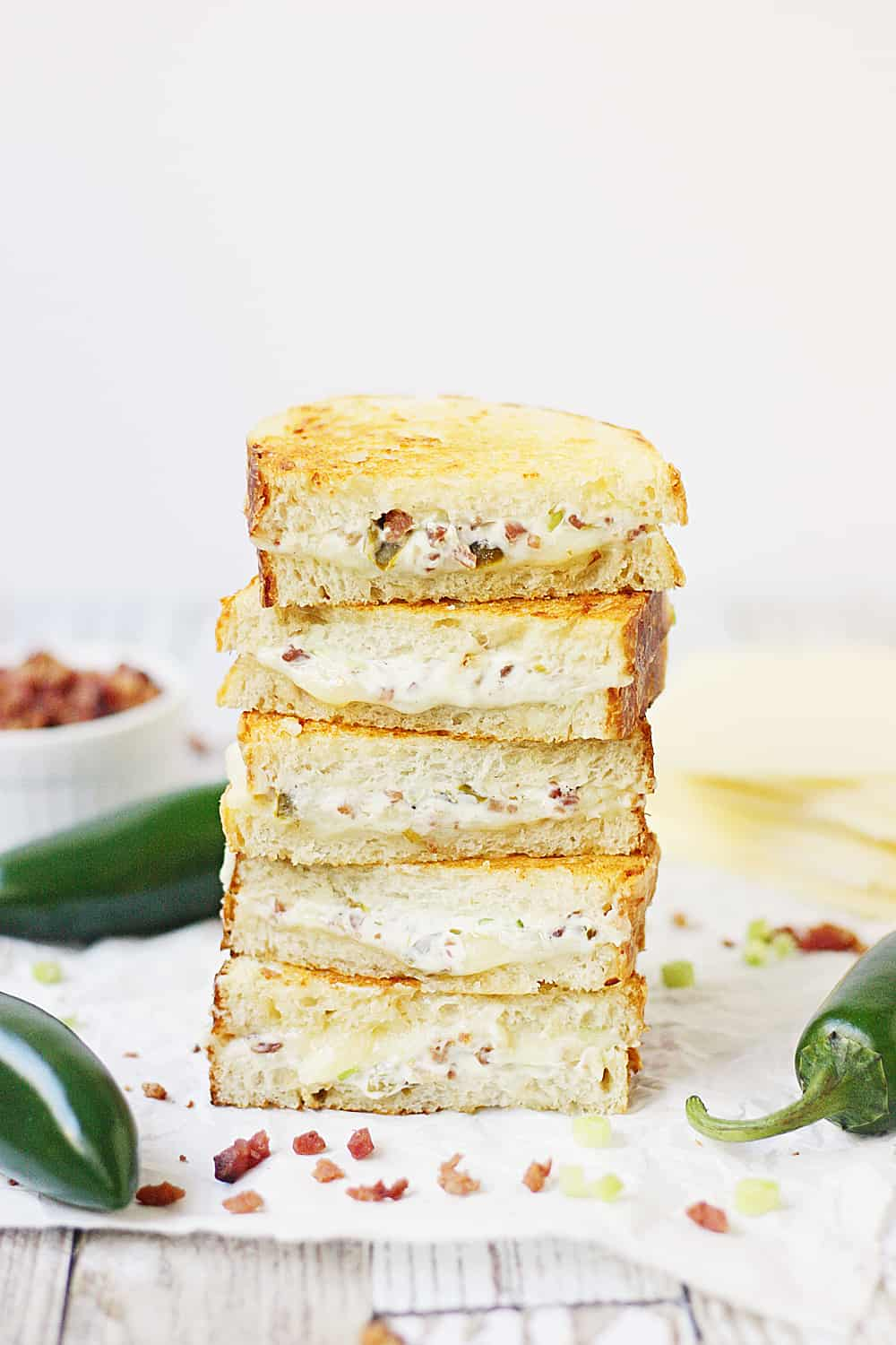 Jalapeno Popper Grilled Cheese Sandwich | Half-Scratched