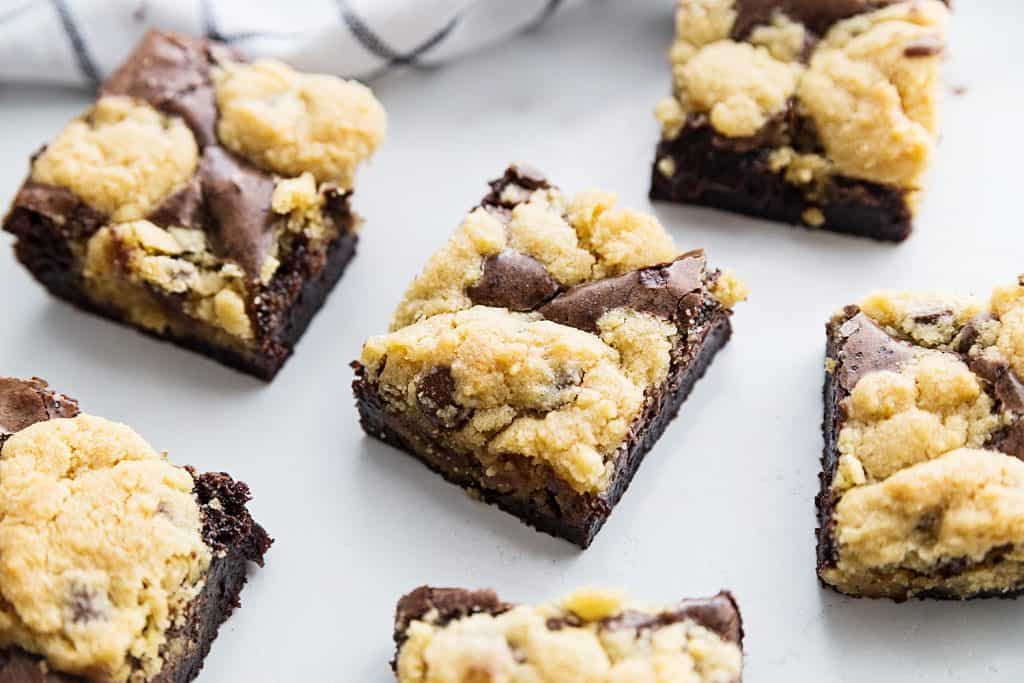 Easy Brookies Recipe - Craving a batch of freshly baked brookies? Satisfy your brownie and cookie cravings with one easy brookies recipe. Your sweet tooth will thank you! #brookies #cookies #brownies #chocolate #baking #dessert #halfscratched